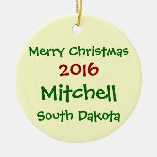 NEW 2016 MITCHELL SOUTH DAKOTA CHRISTMAS ORNAMENT