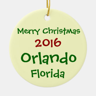 NEW 2016 ORLANDO FLORIDA MERRY CHRISTMAS ORNAMENT