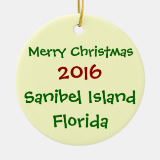 NEW 2016 SANIBEL ISLAND FLORIDA CHRISTMAS ORNAMENT