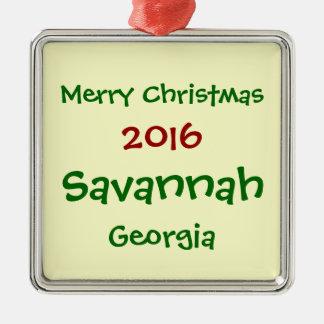 NEW 2016 SAVANNAH GEORGIA MERRY CHRISTMAS ORNAMENT