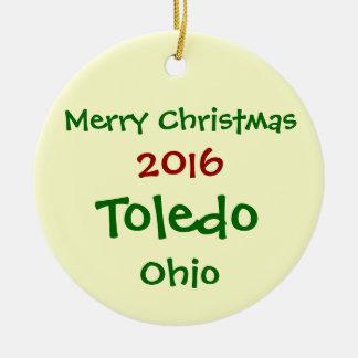 NEW 2016 TOLEDO OHIO MERRY CHRISTMAS ORNAMENT