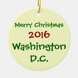 NEW 2016 WASHINGTON DC CHRISTMAS HOLIDAY ORNAMENT