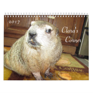 NEW!!!  2017 Clara's Corner Groundhog Calendar