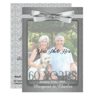 NEW 60th Diamond Wedding Anniversary Photo Party Card