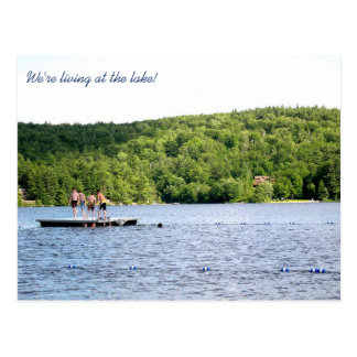 New Address at the Lake Moving Announcement Postcard