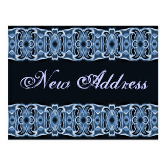 New Address blue black Postcard