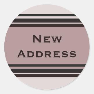 New Address Classic Round Sticker