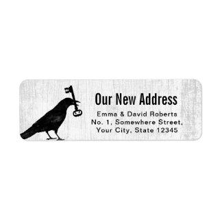 New Address Crow & Key Rustic White Wood