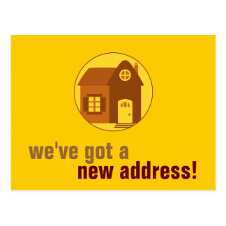 New Address : Customizable Postcard