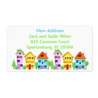 New Address Housewarming Neighborhood Moving Shipping Label