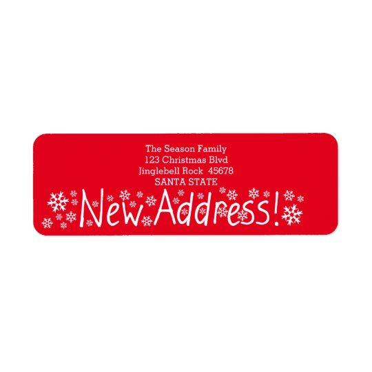 New Address Snowflake Christmas