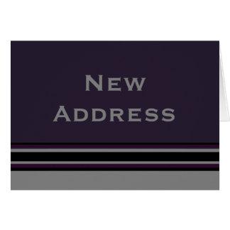 New Address Stripes Card