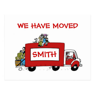 New address we have moved 2 BOYS Postcard