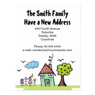 New Address 'We're Moving' House Notification Postcard