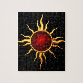 New Age Astral Star: Ruby Sun Jigsaw Puzzle
