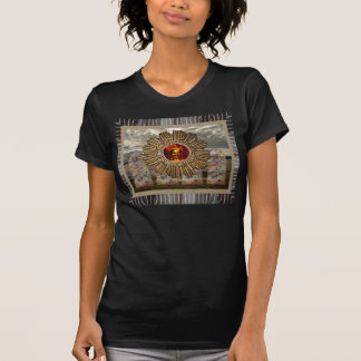 New Age Buddha photo collage Black T-shirt