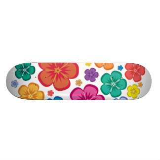 New Age flower power skateboard for the girls
