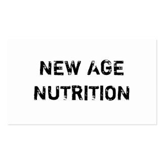 NEW AGE NUTRITION PACK OF STANDARD BUSINESS CARDS