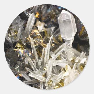 New Age Spiritual Crystal Rock Gemology Classic Round Sticker