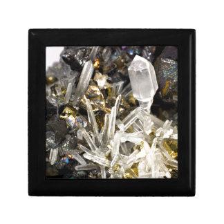 New Age Spiritual Crystal Rock Gemology Keepsake Box
