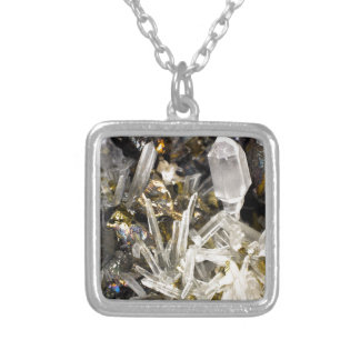 New Age Spiritual Crystal Rock Gemology Silver Plated Necklace