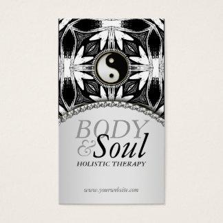 New Age Yin Yang Black White Batik Business Card