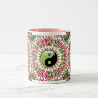 New Age YinYang Geometric Sunflower Mug
