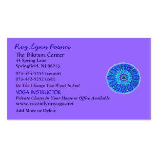 New Age Yoga Profile Card Business Card