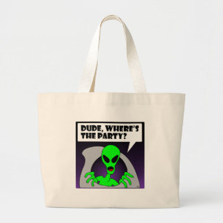 new alien party tote bag