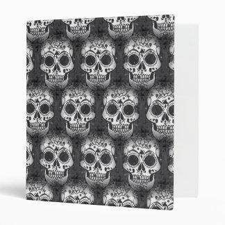 New allover skull pattern 3 ring binder