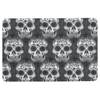 New allover skull pattern floor mat