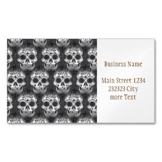 New allover skull pattern Magnetic business card