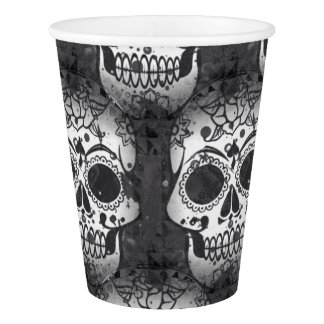 New allover skull pattern paper cup