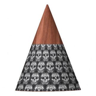 New allover skull pattern party hat