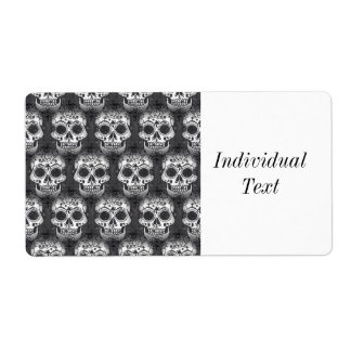 New allover skull pattern shipping label