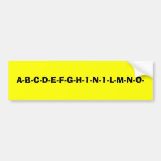 New Alphabet Bumper Sticker