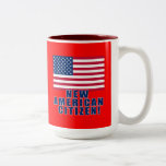 New American Citizen Gifts and Tshirts Two-Tone Mug