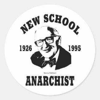 New Anarchist  --  Murray Rothbard Classic Round Sticker