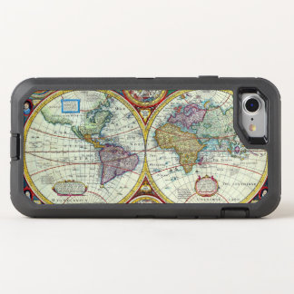 New and Accurate 1626 Map of the World OtterBox Defender iPhone 8/7 Case