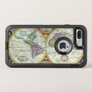 New and Accurate 1626 Map of the World OtterBox Defender iPhone 8 Plus/7 Plus Case