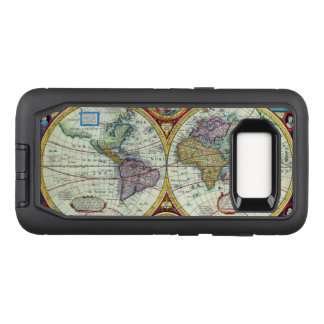 New and Accurate 1626 Map of the World OtterBox Defender Samsung Galaxy S8 Case