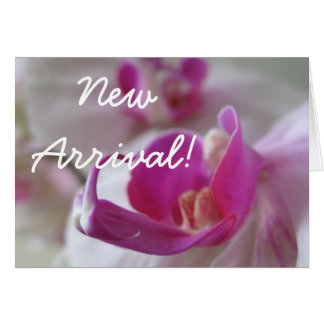 New arrival baby girl floral greeting card