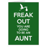 New Aunt Christmas Pregnancy Announcement Greeting Cards
