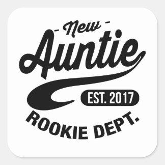 New auntie 2017 square sticker