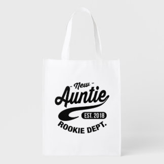 New Auntie 2018 Reusable Grocery Bag