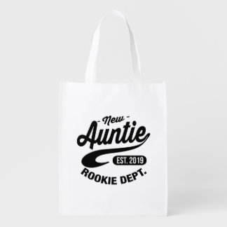 New Auntie 2019 Reusable Grocery Bag