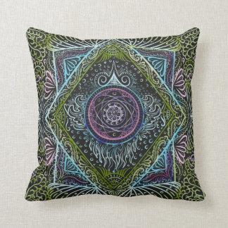 New awaken - Black version, reiki, healing, chakra Throw Pillow