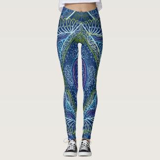 New awaken - Night Blue Version, reiki, healing, c Leggings