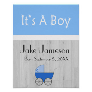 New baby announcement poster