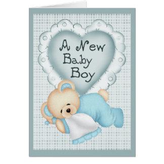New Baby Boy Bear Card